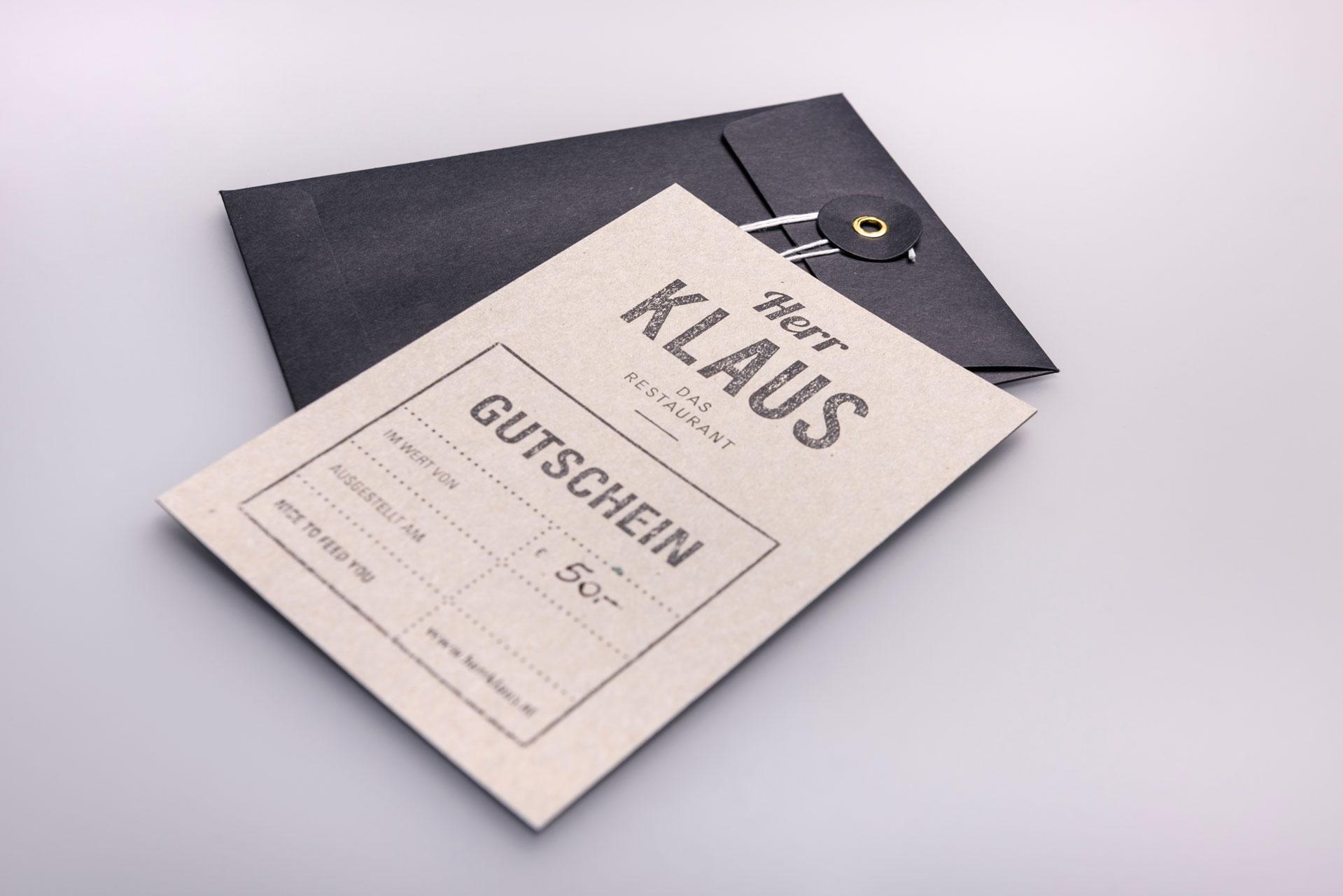Unser Gutschein - erhältlich im Herr Klaus das Restaurant in Neustift im Stubaital.
